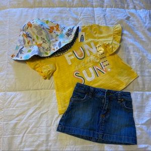 Fun in the sun outfit with matching hat